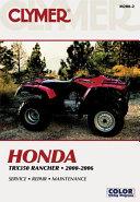 Honda Trx350 Rancher 00 06