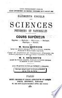 lements usuels des sciences physiques et naturelles  Cours sup  rieur