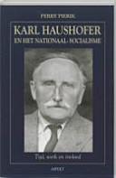 Karl Haushofer En Het Nationaal Socialisme
