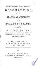 Geographische en historische beschrijving van Staats-Vlaanderen en Staats-Braband