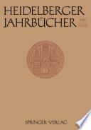 Heidelberger Jahrb  cher