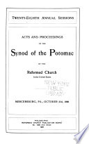 Acts and Proceedings of the Synod of the Potomac of the Reformed Church in the United States