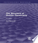The Structure Of Human Personality Psychology Revivals
