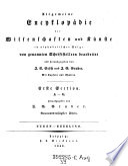 Erste Section A - G ; Eugen - Ezzelino
