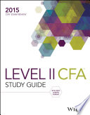 Wiley Study Guide for 2015 Level II CFA Exam  Complete Set