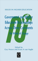 Government and Higher Education Relationships Across Three Continents Book PDF