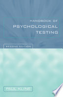 Handbook of Psychological Testing