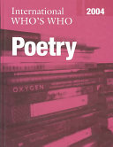 International Who s Who in Poetry 2004 Emerging Poets