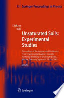 Unsaturated Soils  Experimental Studies