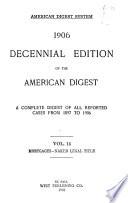 Decennial Edition of the American Digest
