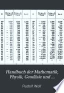 Handbuch der Mathematik, Physik, Geodäsie und Astronomie