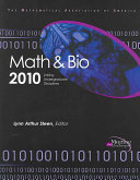 Math and Bio 2010 New Educational Paradigm In Which The Disciplines Of