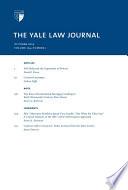 Yale Law Journal  Volume 124  Number 1   October 2014