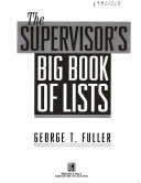 The supervisor s big book of lists
