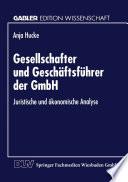 Gesellschafter und Geschäftsführer der GmbH