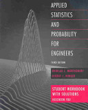 Applied Statistics And Probability For Engineers Student Workbook With Solutions