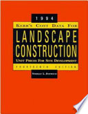Kerr s Cost Data for Landscape Construction