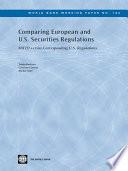Comparing European and U S  Securities Regulations