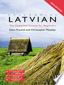 Colloquial Latvian (eBook And MP3 Pack)