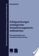 Erfolgswirkungen strategischer Umweltmanagementmaßnahmen