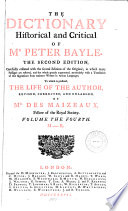 The Dictionary Historical And Critical Of Mr Peter Bayle