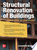 Structural Renovation Of Buildings Methods Details And Design Examples Second Edition