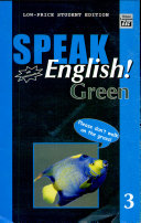 Speak English  Green 3 With Audiocassette