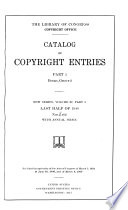 Catalog Of Copyright Entries Part 1 B Group 2 Pamphlets Etc New Series