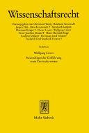 Rechtsfragen der Einführung eines Curricularwertes