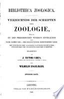 Bibliotheca zoologica [I]