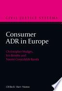 Consumer ADR in Europe