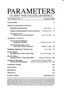 Parameters, US Army War College Quarterly Vol. XXXII, No. 3