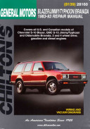 Chevrolet Blazer Jimmy Typhoon And Bravada 1983 93