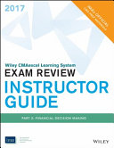 Wiley Cmaexcel Learning System Exam Review 2017 Instructor Guide
