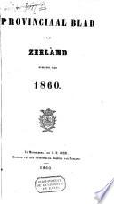 Provinciaal blad van Zeeland over het jaar ...
