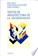 Textos de Arquitectura de la Modernidad