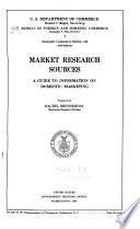 Market Research Sources Book PDF