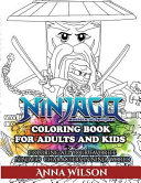 Ninjago Masters of Spinjitzu Coloring Book for Adults   Kids
