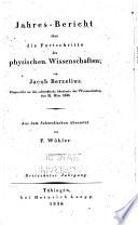 Jahres-Bericht über die Fortschritte der physischen Wissenschaften