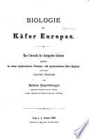 Biologie der Käfer Europas