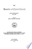 The Records of Christ Church, Poughkeepsie, New York