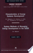 Systems for Management of Energy Development in the U  S  S  R    Methods for Assessment of Future Energy Development in the U  S  S  R