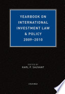Yearbook on International Investment Law   Policy 2009 2010