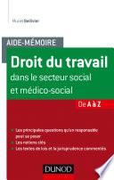 Aide M Moire Droit Du Travail Dans Le Secteur Social Et M Dico Social