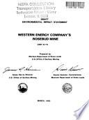 Western Energy Company Rosebud Mine Comprehensive Mine Plan