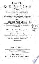 Vermischte Schriften über staatswirtschaftliche, philosophische und andere wissenschaftliche gegenstände ...