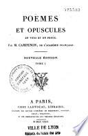 Poèmes et opuscules en vers et en prose