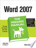 Word 2007  The Missing Manual