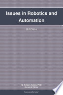 Issues In Robotics And Automation 2013 Edition book