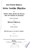 Karl Otfried Müller's Kleine deutsche Schriften über Religion, Kunst, Sprache und Literatur